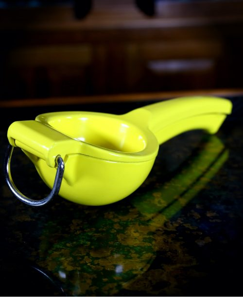 Yellow Enameled Lemon Squeezer