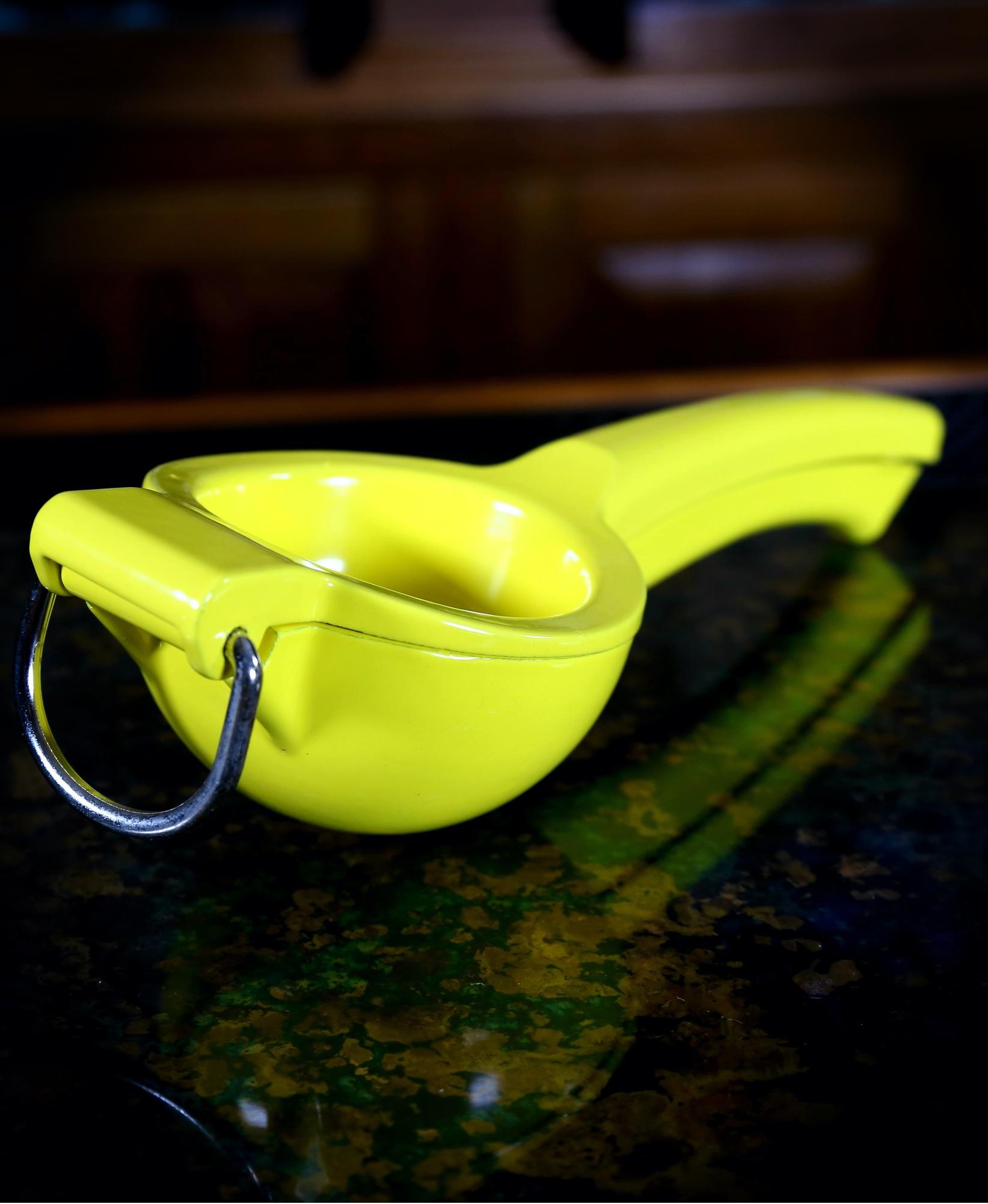 Yellow Enameled Lemon Squeezer