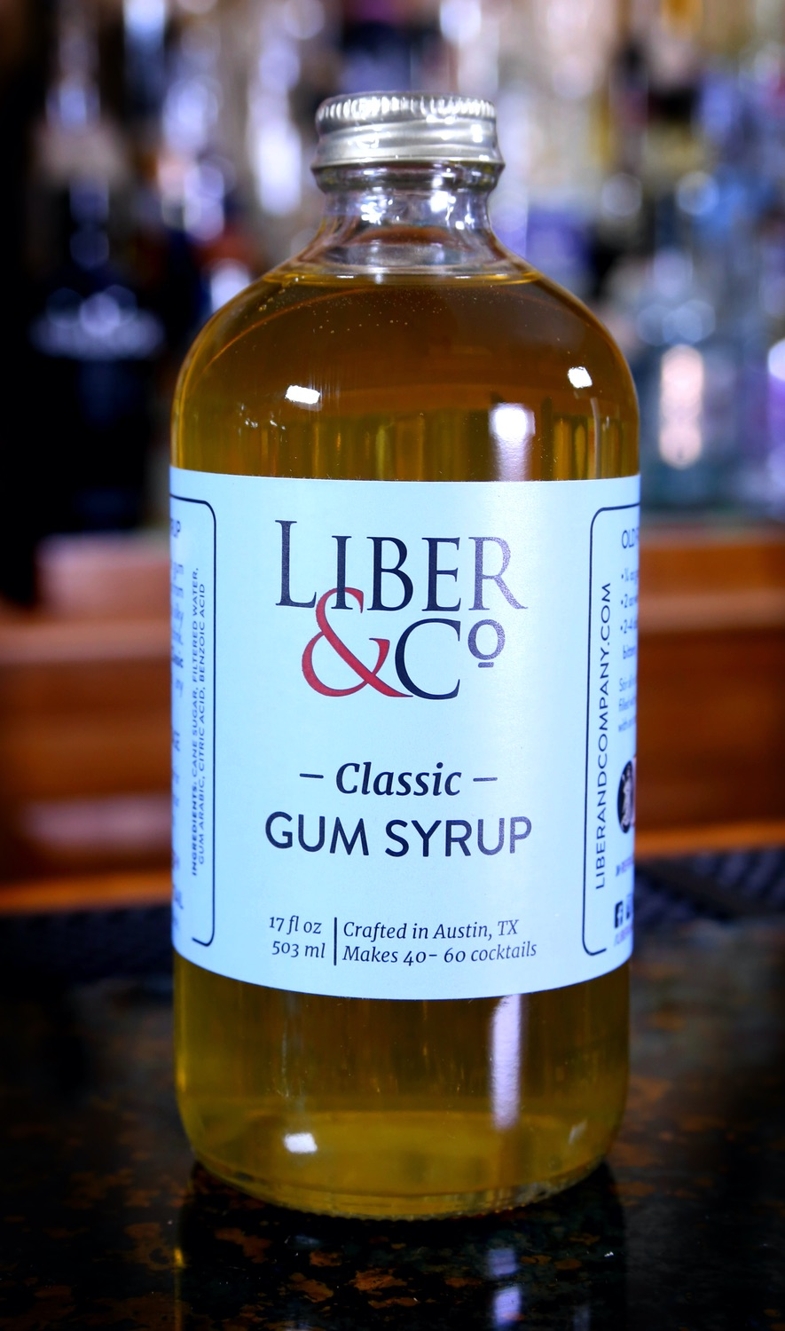 Liber & Co. Classic Gum Syrup / Gomme Syrup, 17 oz