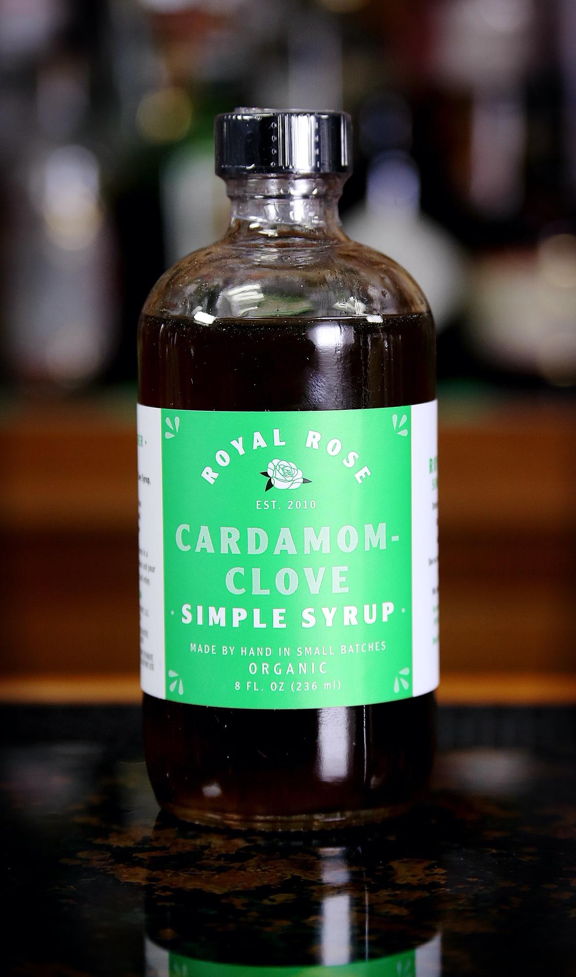 Royal Rose Cardamom Clove Simple Syrup