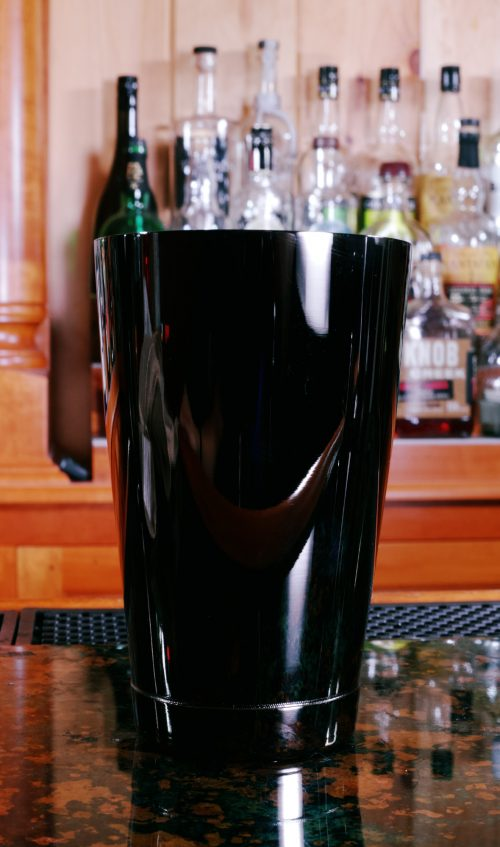 Bar Fly 18 oz Shaker Tin, Gun Metal Black